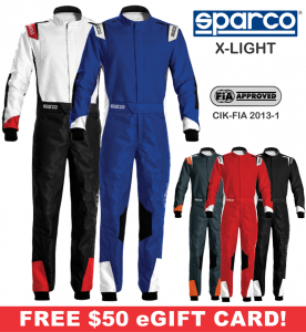 Karting Gear - Karting Suits - Sparco X-Light Karting Suit - $498.99
