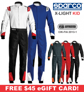 Karting Gear - Karting Suits - Sparco X-Light Kid Karting Suit - $474.99