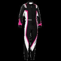 LABOR DAY SALE! - Racing Suit Sale - Sparco - Sparco Kerb Lady Karting Suit - Black/White - Size: Medium