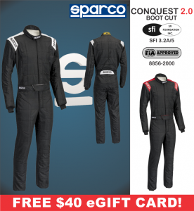 Racing Suits - Sparco Racing Suits - Sparco Conquest 2.0 Boot Cut Racing Suit - $398.99