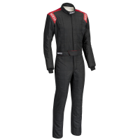 SUMMER SIZZLER SALE! - Sparco - Sparco Conquest 2.0 Boot Cut Suit - Black/Red - Large / Euro 56
