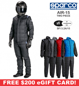 Racing Suits - Sparco Racing Suits - Sparco AIR-15 Drag 2-Piece Racing Suit - $1974.98