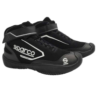 Crew Apparel & Collectibles - Sparco - Sparco Pit Stop Shoe - Black - Size: 14