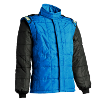 LABOR DAY SALE! - Sparco - Sparco AIR-15 Drag Racing Jacket (Only) - Black/Blue - Size: Medium / Euro 52