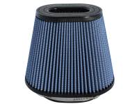 "Air & Fuel System - aFe Power - aFe Power Magnum FLOW Pro 5R Air Filter Element - Clamp-On - Oval - 6.75 x 4.50"" Base Diameter - 10 x 6.310"" Top Diameter - 8"" Tall - 7 x 5.250"" Flange - Reusable Cotton - Blue"