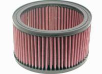 "Universal Round Air Filters - 6"" Round Air Filters - K&N Filters - K&N Air Filter Element - 6.375"" Diameter - 3.75"" Tall - Reusable Cotton"