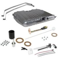 """Fuel Cells, Tanks and Components - Fuel Tanks - Holley Performance Products - Holley Sniper EFI Fuel Tank - 24 Gal. - 400 lph Pump - 1/4"""" NPT Outlet Port - 1/4"""" NPT Return Port - Sending Unit - Steel - Silver Powder Coat - GM A-Body 1964-67"""