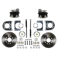 "Brake System - Leed Brakes - Leed Disc Conversion Brake System - Rear - 1 Piston Caliper - 11"" Solid Rotors - Iron - Ford 9"""