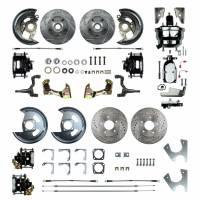 """Right Stuff Detailing - Right Stuff Detailing 4 Wheel Power Disc Conversion Brake System - Complete - 1 Piston Caliper - 11.00"""" Rotors - GM F-Body 1968-69"""