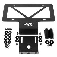 Street & Truck Body Components - License Plate Frames - Rugged Ridge - Rugged Ridge License Plate Bracket - Relocation - Bolt-On - Rear - Steel - Black Powder Coat - Jeep Wrangler JL 2018-19