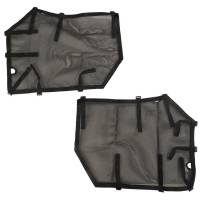 Body & Exterior - Rugged Ridge - Rugged Ridge Bottom Half Soft Door Cover - Front - Mesh - Black - Fortis Tube Doors - Jeep Wrangler JL/JLU 2018-19 (Pair)