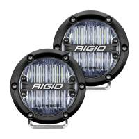 "Body & Exterior - Rigid Industries - Rigid Industries 360 Series LED Light Assembly - Fog - 31 Watts - 4"" Round - Surface Mount - White Backlight - White LED - SAE - Aluminum"