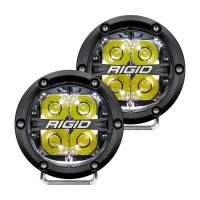 "Rigid Industries - Rigid Industries 360 Series LED Light Assembly - Spot - 28 Watts - 4"" Round - Surface Mount - White Backlight - White LED - Aluminum - Black Anodize"