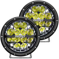 "Rigid Industries - Rigid Industries 360 Series LED Light Assembly - Spot - 72 Watts - 6"" Round - Surface Mount - White Backlight - White LED - Aluminum - Black Anodize"
