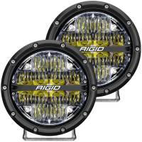 "Body & Exterior - Rigid Industries - Rigid Industries 360 Series LED Light Assembly - Driving - 72 Watts - 6"" Round - Surface Mount - White Backlight - White LED - Aluminum - Black Anodize"