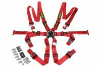 Safety Equipment - Schroth Racing - Schroth Flexi 2x2 Camlock 6 Point Harness - FIA Approved - Pull Down Adjust - Snap-On/Wrap Around - Individual Harness - Hans Ready - Red