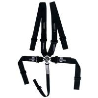 Safety Equipment - Ultra Shield Race Products - Ultra Shield Camlock 5 Point Harness - SFI 16.1 - Pull Down Adjust - Bolt-On/Wrap Around - Individual Harness - Black