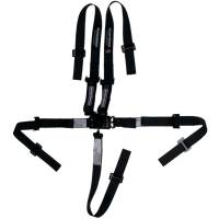 Safety Equipment - Ultra Shield Race Products - Ultra Shield Latch & Link 5 Point Harness - Pull Up Adjust - Bolt-On/Wrap Around - Individual Harness - Junior - Black