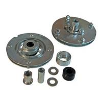 Suspension Components - SPC Performance - SPC Performance Caster/Camber Plates - Strut - Independent Caster/Camber Adjustment - Aluminum - Clear Anodize - Ford Mustang 1994-2004
