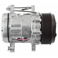 Tuff-Stuff Performance - Tuff-Stuff Air Conditioning Compressor - Peanut Style - R-134A - 8 Rib Serpentine Pulley - Natural - Universal - Each