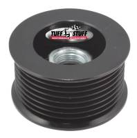 "Tuff-Stuff Performance - Tuff-Stuff Serpentine Alternator Pulley - 8-Rib - 2.25"" Diameter - Aluminum - Black Powder Coat - Universal"