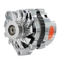 Powermaster Motorsports - Powermaster Alternator - CS130 - 140 amp - 12V - 1-Wire - 6 Rib Serpentine Pulley - Chrome - GM