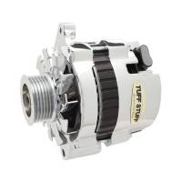 Tuff-Stuff Performance - Tuff-Stuff Mini Racer Alternator - 120 amp - 12V - 1-Wire - 6 Groove Serpentine Pulley - Polished - GM