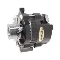 Tuff-Stuff Performance - Tuff-Stuff Mini Racer Alternator - 120 amp - 12V - 1-Wire - 6 Groove Serpentine Pulley - Black - GM