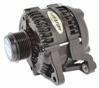 Tuff-Stuff Performance - Tuff-Stuff Alternator - 250 amp - 12V - OEM/1-Wire - Internal Regulator - 6 Rib Serpentine Pulley - Black Powder Coat - Ford Mustang 2011-17