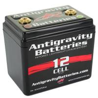 "Batteries and Components - Batteries - Antigravity Batteries - Antigravity Batteries Battery - 13V - 360 Cranking Amp - Threaded Terminals - Top Terminals - 4.50"" L x 4.25"" H x 3.25"" W"