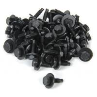 "Body Installation Accessories - Body Bolt Kits - Allstar Performance - Allstar Performance Body Bolt Kit - 1/4-20"" - 3/4"" Long - Hex Head - Black Oxide (Set of 50)"