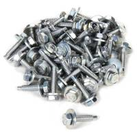 "Body Installation Accessories - Body Bolt Kits - Allstar Performance - Allstar Performance Body Bolt Kit - 1/4-20"" - 1-1/8"" Long - Hex Head - Zinc Oxide (Set of 50)"
