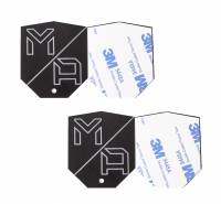 Mob Armor - Mob Armor Mounting Disc - Stick-On - Shield Shape - Device Side - Steel - Black (Pair)