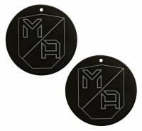 Mob Armor - Mob Armor Mounting Disc - Stick-On - 65 mm Diameter - Mounting Side - Steel - Black (Pair)