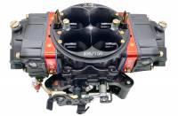Air & Fuel System - Willy's Carburetors - Willy's Equalizer Carburetor - 4-Barrel - 750 CFM - Square Bore - No Choke - Mechanical Secondary - Dual Inlet - Black Powder Coat - Gas