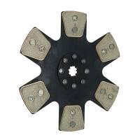 "Ram Automotive - Ram 1000 Series Clutch Disc - 11"" Diameter - 1-3/16"" x 18 Spline - Rigid Hub - 6 Puck - Metallic"