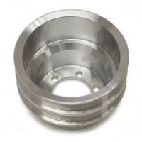 Crankshaft Pulleys - Serpentine Crankshaft Pulleys - March Performance - March Performance Crankshaft Pulley - Serpentine - Double 6-Rib - Clear Anodize - Mopar B/RB-Series