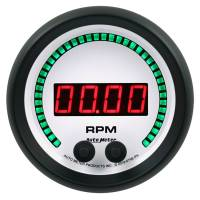 "Digital Gauges - Digital Tachometers - Auto Meter - Auto Meter Phantom Elite Tachometer - Digital - Electric - 0-16000 RPM - 3-3/8"" - White Face"