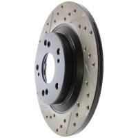 Brake System - StopTech - StopTech Sport Brake Rotor - Rear - Right Side - Drilled/Slotted - 281.7 mm OD - 11.99 mm Thick - 5 x 114.3 mm Bolt Pattern - Iron - Natural