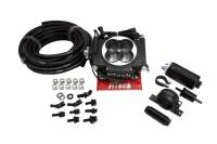 Air & Fuel System - Fitech Fuel Injection - FiTech Go EFI 4 Master Kit System - Black Finish