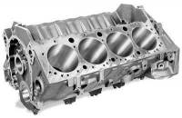 "Engines, Blocks and Components - Engine Blocks - Dart Machinery - Dart Little M Engine Block - 4.000"" Bore - 9.025 Deck - 350 Main - 4-Bolt Main - 2 Piece Seal - Iron - Small Block Chevy"