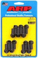 "Exhaust Hardware and Fasteners - Header Bolts - ARP - ARP Header Bolt - 3/8-16"" Thread - 0.750"" Long - Hex Head - Chromoly - Black Oxide - Oldsmobile V8 - Set of 14"