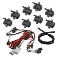 Ignition Components - NEW - Ignition Coils - NEW - Holley Performance Products - Holley Ignition Coil - Coil-Near-Plug Smart Coil - E-Core - Male HEI - 44000V - Wiring Harness - Black (Set of 8)