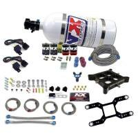 Nitrous Oxide Systems and Components - Nitrous Oxide Systems - Nitrous Express - Nitrous Express Nitrous Oxide System - Billet Crossbar - Wet - Dual Stage - 50-800 HP - 10 lb. Bottle - White - Universal