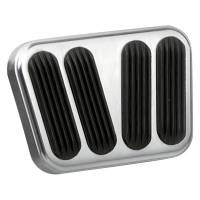 Interior & Cockpit - Lokar - Lokar Brake/Clutch Pedal Pad - Rubber Pads - Billet Aluminum - Brushed - Chevy Corvette 1958-62