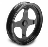 Power Steering Pulleys - Serpentine Power Steering Pulleys - Holley Performance Products - Holley Serpentine Power Steering Pulley - 6-Rib - Black Anodize - GM LS-Series - Chevy Corvette 1997