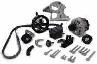 Engine Components - GM Performance Parts - GM Deluxe Serpentine Pulley Kit - 6 Rib Serpentine - Black Paint - LS3 - GM LS-Series