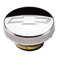 Radiator Accessories and Components - Radiator Caps - Billet Specialties - Billet Specialties Radiator Cap - 7 lb. - Round - Knurled Grip - Bowtie Engrave - Billet Aluminum - Polished