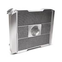 """Proform Performance Products - Proform Slim-Fit Universal Series Aluminum Radiator - 21-13/32"""" W x 18-1/2"""" H x 4"""" D - Single Pass - Left Side Inlet - Right Side Outlet - Natural - Manual Transmission"""