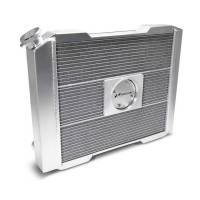 """Proform Performance Products - Proform Slim-Fit Universal Series Aluminum Radiator - 23-13/32"""" W x 18-1/2"""" H x 4"""" D - Single Pass - Left Side Inlet - Right Side Outlet - Natural - Manual Transmission"""